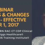 Free WebinarUpdates & Changes to MDs 3.0 - Effective October 1, 2017