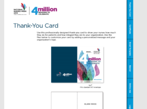 4 million reason thank you card